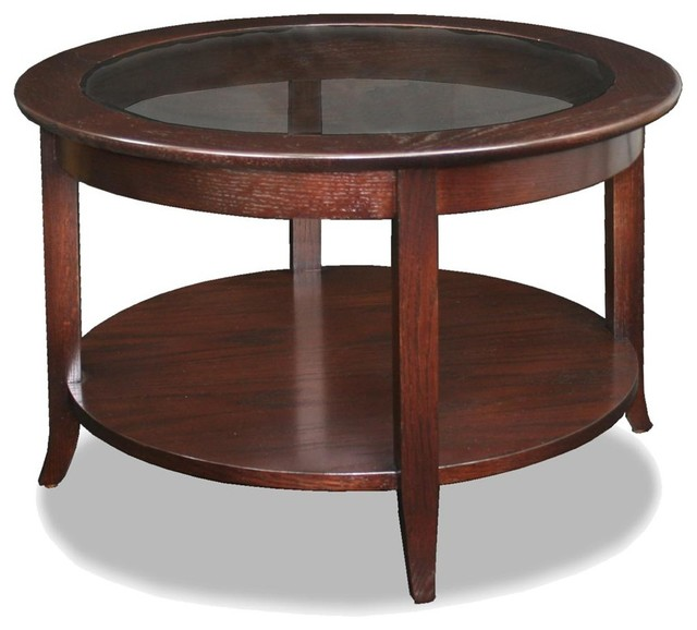 Leick Home Round Coffee Table  Coffee Tables Houzz