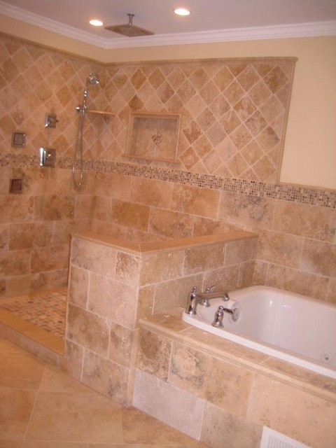 Irox Travertine Bathroom  Traditional  Bathroom  philadelphia  by StoneMar Natural Stone