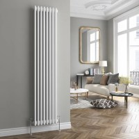 White Triple Panel Vertical Colosseum Radiator ...