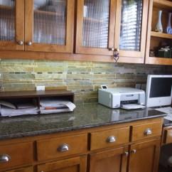 Rustic Pendant Lighting Kitchen Widespread Faucet Slate Backsplash - Traditional Dallas By ...