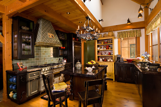 Vermont Timber Frame Residence  Traditional  Kitchen
