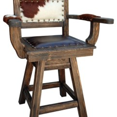 Bar Chairs With Arms And Backs Target Upholstered Dining Texas Western Swivel Stool Southwestern Stools Counter By Rancho Collection