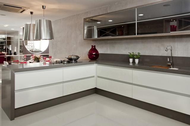 Silestone Cemento Kitchen  Contemporary  Kitchen