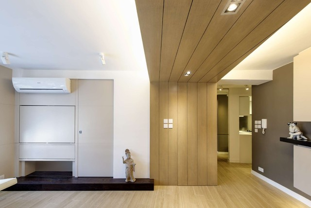 Modern Small warm Apartment  Contemporary  Living Room  Hong Kong  by Ample DESIGN