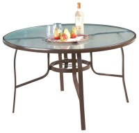 "FastFurnishings 48"" Round Glass-Top Outdoor Patio Dining ..."