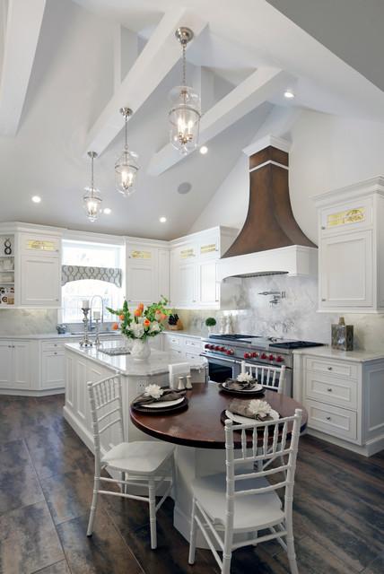Vaulted Ceiling Kitchen, Rockville Centre 1404  Farmhouse