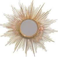 Gold Leaf Starburst Mirror - Midcentury - Wall Mirrors ...
