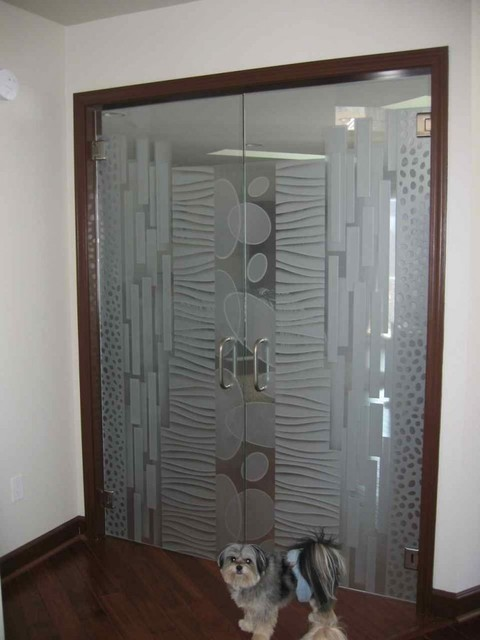 interior glass doors with obscure frosted glass designs - nokes