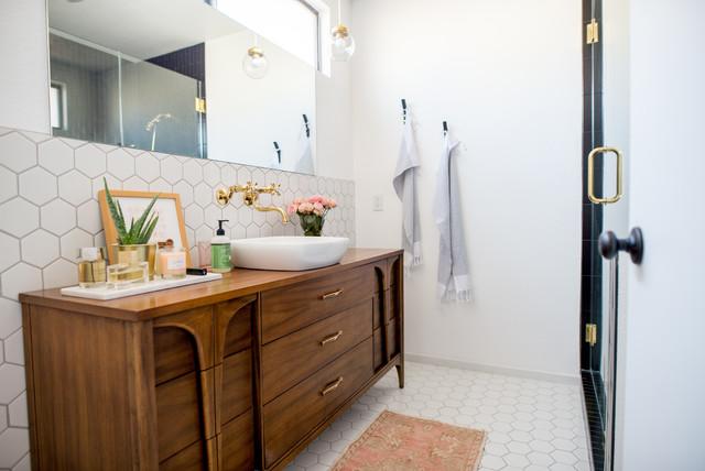 Designers Remake Vintage Cabinets Into Bathroom Vanities