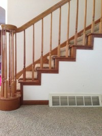 Does the baseboard have to match the stairs?