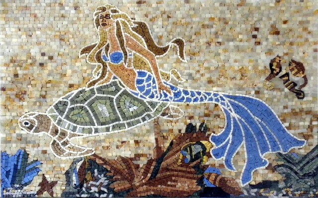 artistic mermaid mosaic 31 x46
