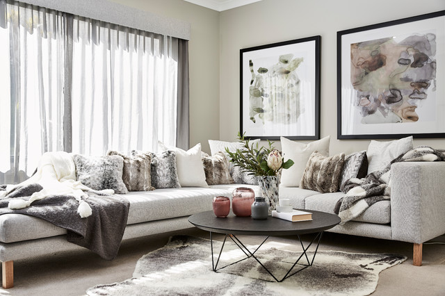 Winter Home Styling transitional-living-room