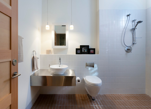 handicap shower chairs purple accent chair poolside flat - contemporary bathroom austin by rick & cindy black architects
