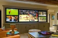 Multi-Screen Media Room - Rustic - Home Theater - Los ...