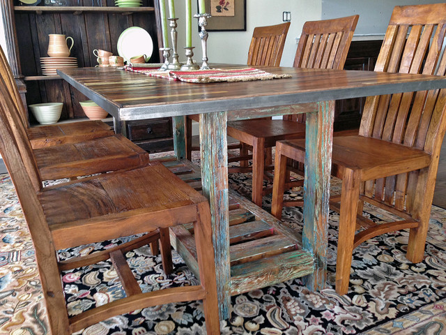 Reclaimed / Salvaged Boat Wood Dining Table (custom