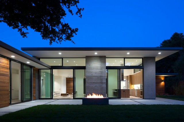 Rear Facade at Night  Modern  Exterior  San Francisco  by modern house architects