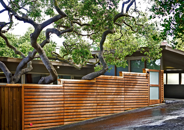 Photos Horizontal Fence Driveway Contemporary Exterior San Francisco