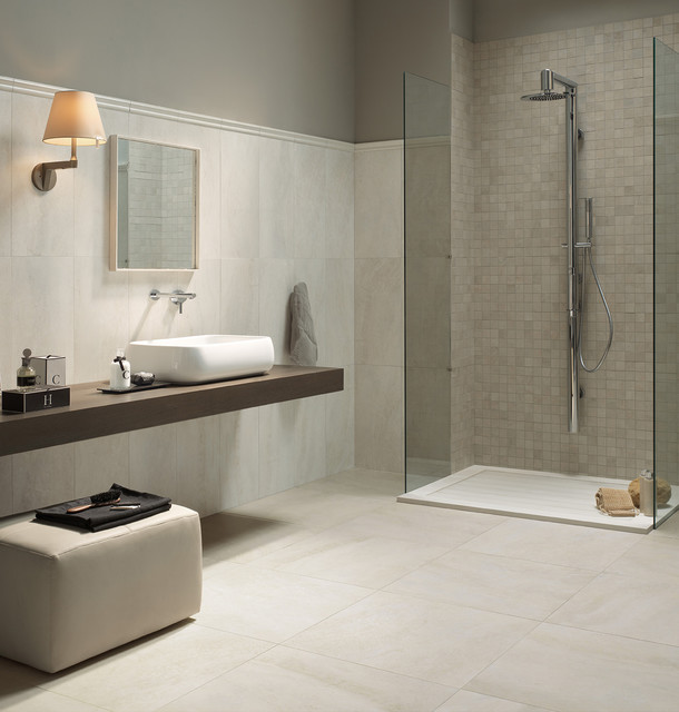 Pavimenti e rivestimenti per bagni  Pietra Tiburtina  Contemporaneo  Stanza da Bagno