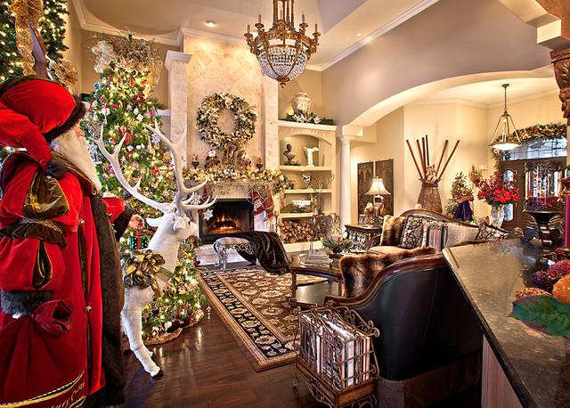 Christmas Decor Mediterranean Living Room Chicago By Spallina Interiors
