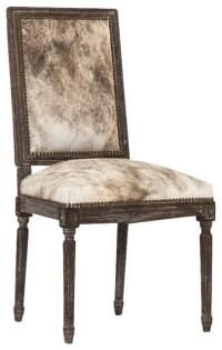 Shop Houzz | Zentique Louis Cowhide Side Chair by Zentique ...