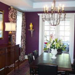 Purple Upholstered Dining Chairs Spandex Chair Covers With Sash Aubergine