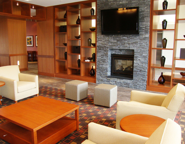 stone fireplace  Modern  Living Room  Jacksonville  by