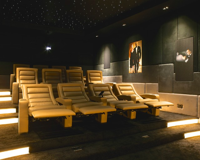 recliner chairs movie theater sloping arm dining chair pudleston home cinema - seats contemporary london by finite solutions