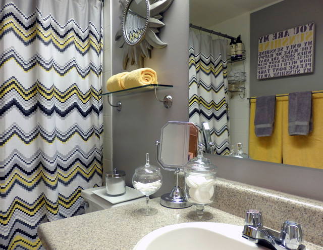 grey and yellow bathroom - modern - bathroom - toronto - by