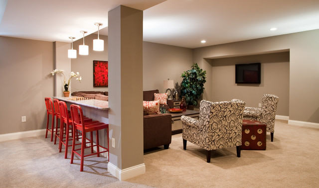 East Carmel Project Contemporary Basement Indianapolis By