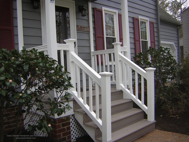 Synthetic and Vinyl Decks Stairs and Railings  Traditional  Exterior  Richmond  by Case