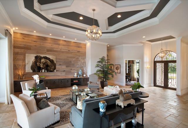 REGENCY MANOR MODEL contemporary-living-room