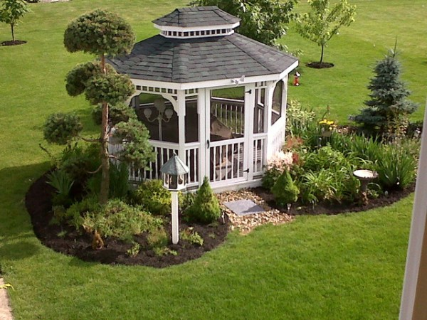 gazebo garden - traditional landscape