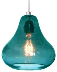 Kiss Pendant Lamp in Aqua Turquoise Glass By Luxello LED ...