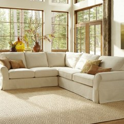 Pb Comfort Sofa Reviews Cheap Bed Toronto Slipcovered 3-pieced L-shape Sectional ...