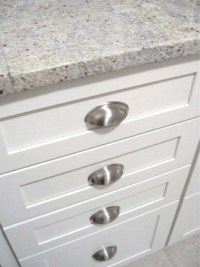 White Kitchen Cup Pulls - Traditional - Kitchen - Richmond