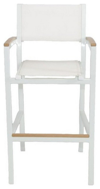 riviera outdoor aluminum and sling bar chair gray