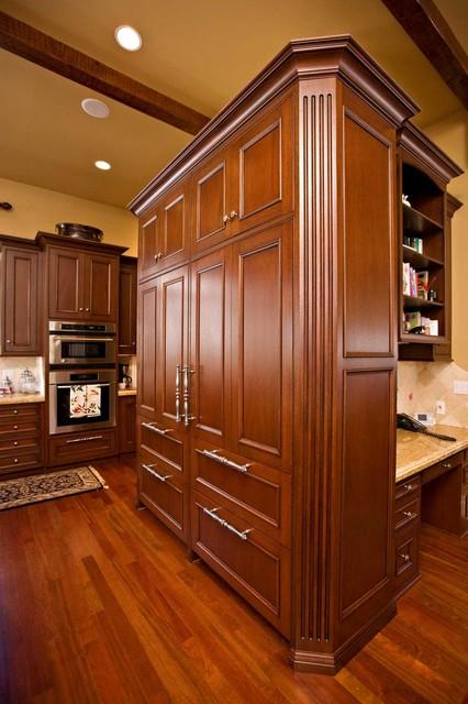 Sub Zero Refrigerator with Custom Cabinetry  Traditional