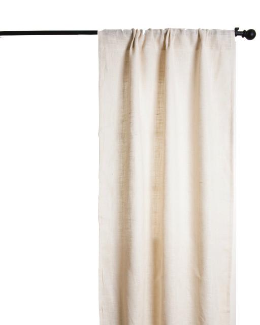 ivory burlap curtains