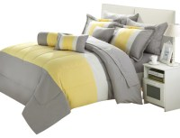 Serenity Yellow And Gray King 10-Piece Comforter Bed In A ...