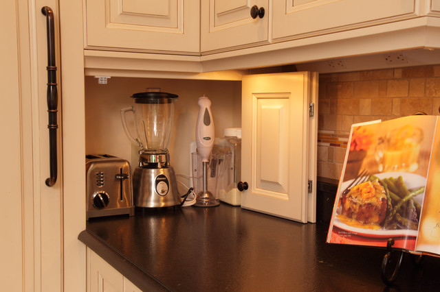 best small kitchen appliances decorative wall art the places to stash traditional by sawhill kitchens