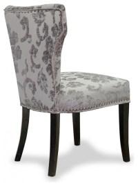 Warid Baroque Mink Fabric Chair (Pair) by Sherman ...