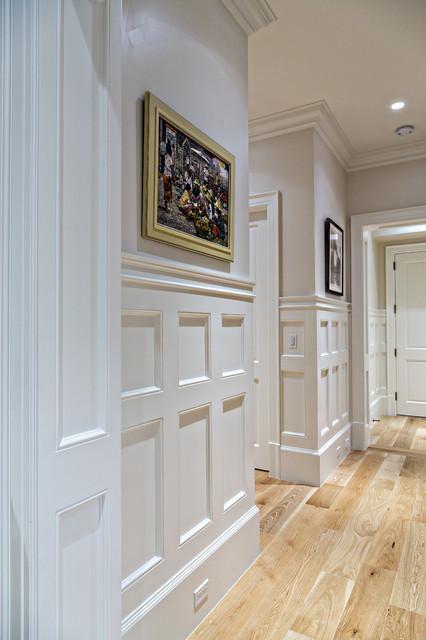 coastal living room furniture sets kitschy wainscoting hallway detail - traditional hall ...