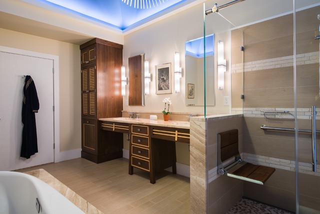 Luxury JapaneseInspired ADA Accessible Bath  Asian