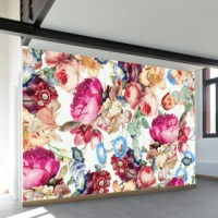 Floral Crush Wall Mural - Contemporary - Wallpaper - by ...