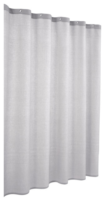 ria turkish cotton shower curtain silver