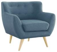 Mid Century Modern Accent Chair, Blue - Midcentury ...