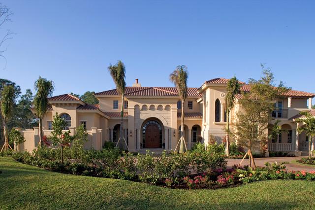 Sater Groups Cordillera Custom Home Plan  Mediterranean  Exterior  Miami  by Sater Design