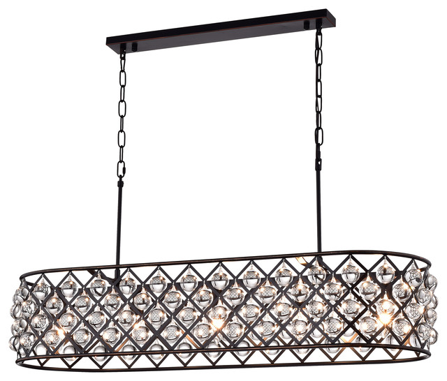 Laila Crystal Chandelier Oil Rubbed Bronze Contemporary Chandeliers