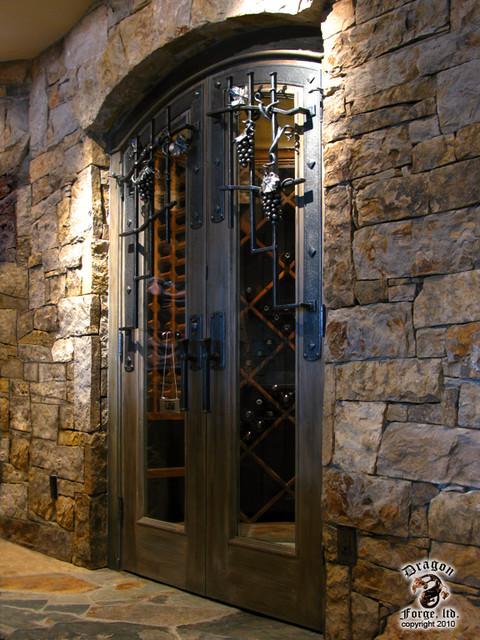 Wine Cellar Door Grill and hardware  Contemporary  Wine