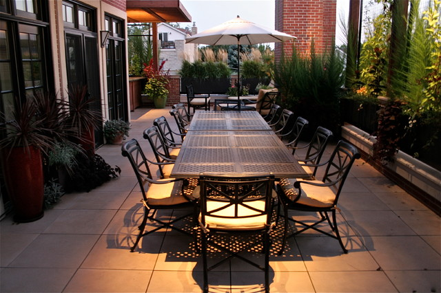 resin patio chairs chair covers for dining room lakeview terrace - modern chicago by specialty gardens, inc.
